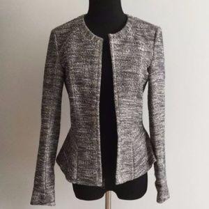 Theory Black and White Tweed Blazer
